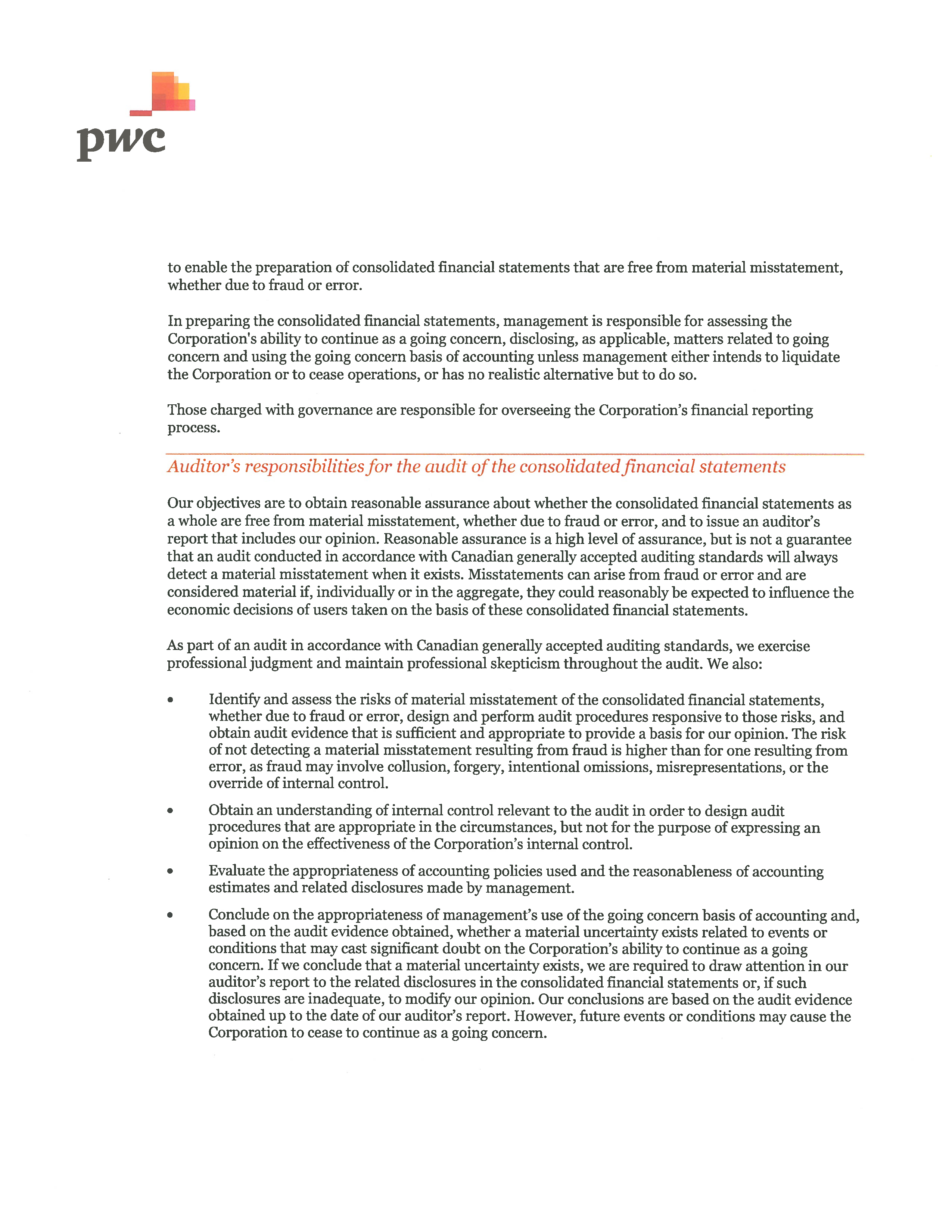 Independent Auditors' Report page 2